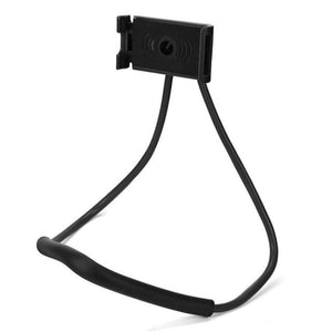 Neck Phone Holder Stand for Universal Cell - Black -
