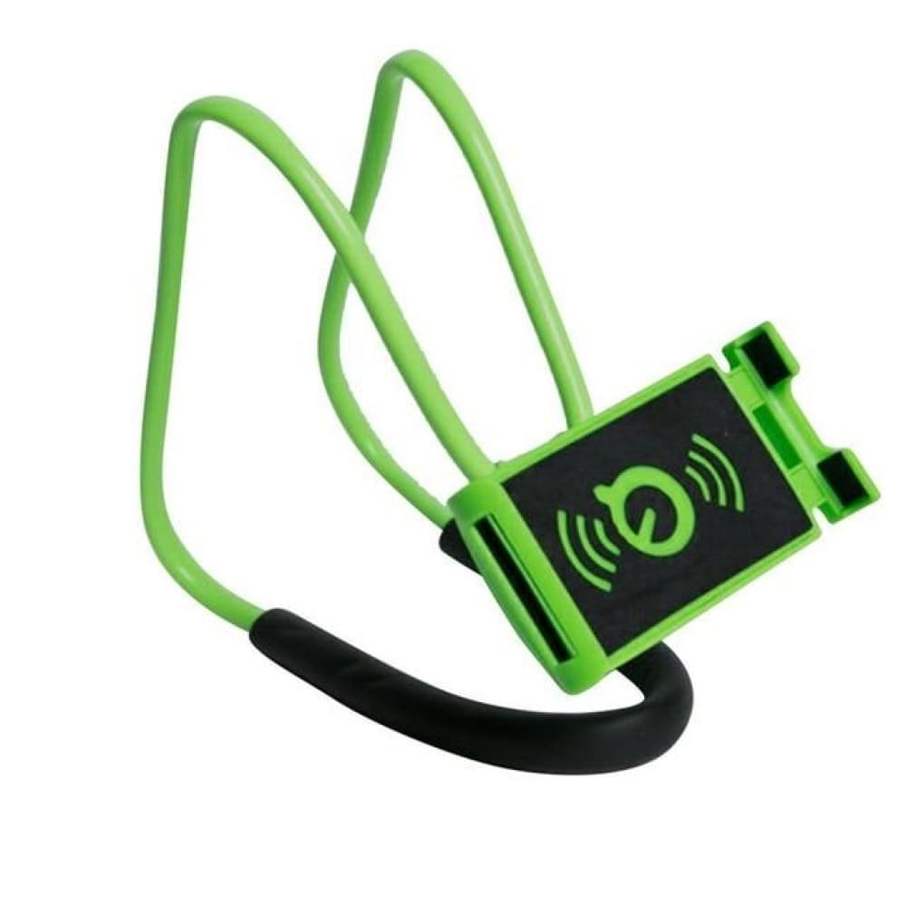Neck Phone Holder Stand for Universal Cell - Green -