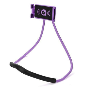 Neck Phone Holder Stand for Universal Cell - Purple -