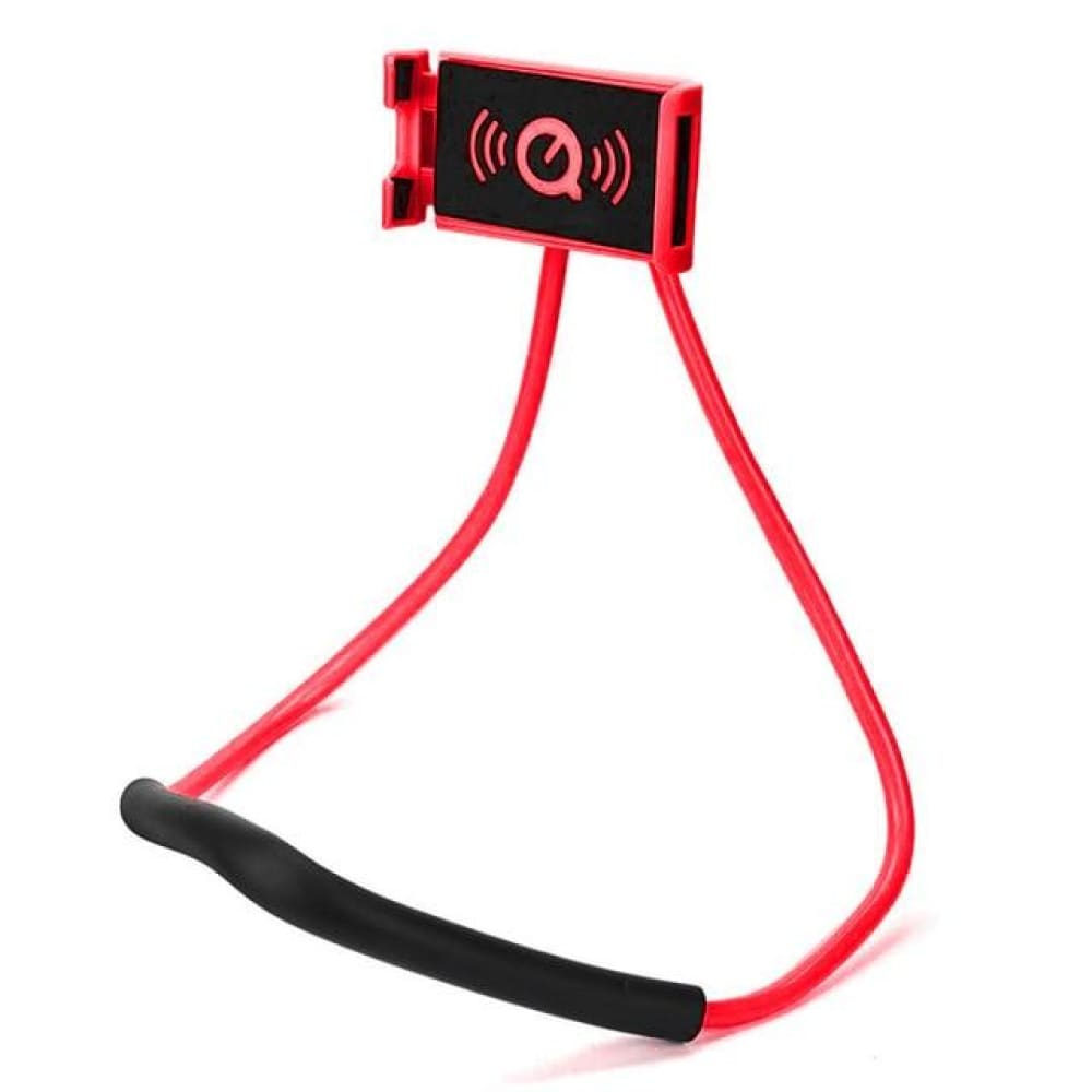 Neck Phone Holder Stand for Universal Cell - Red -