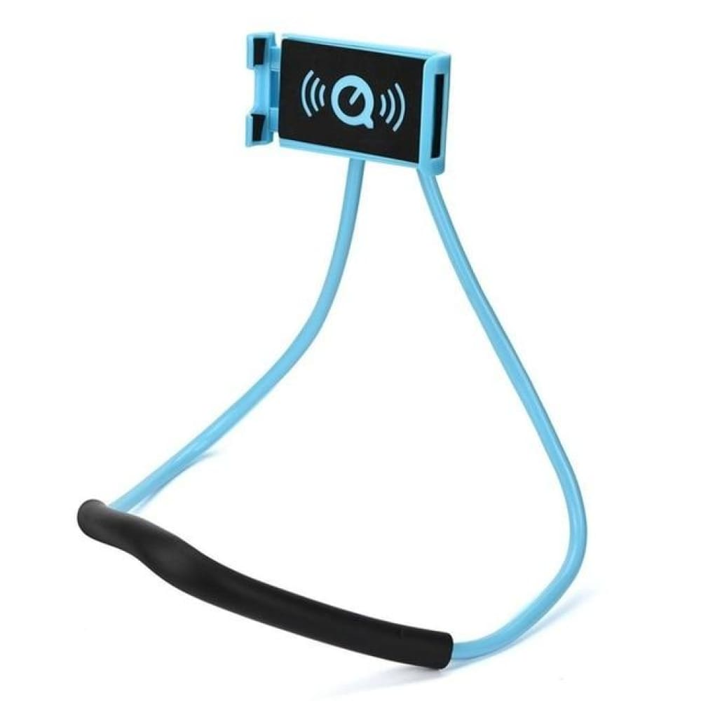 Neck Phone Holder Stand for Universal Cell - Sky Blue -