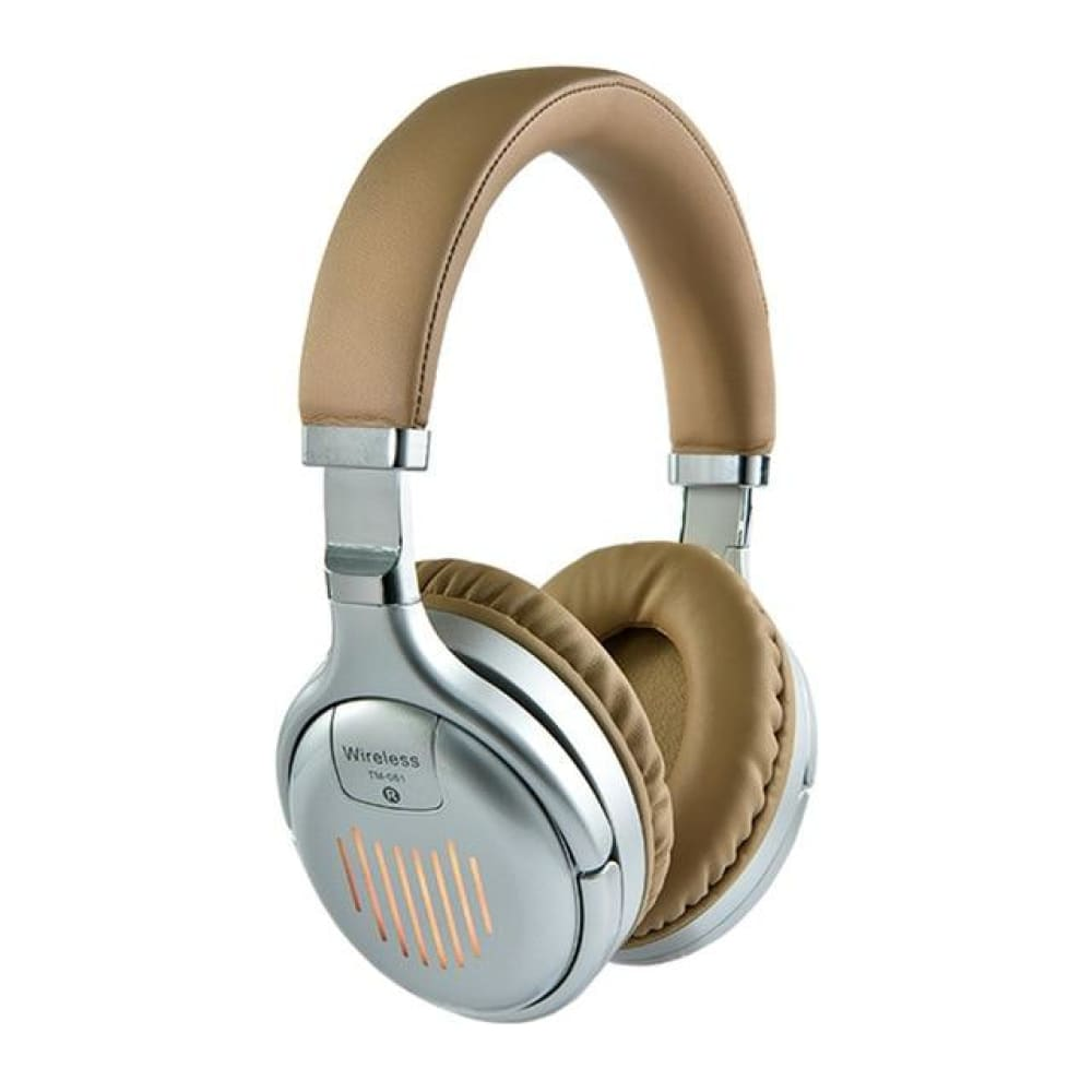 Original TM-61 Foldable Gaming Headphones With Mic - Silver