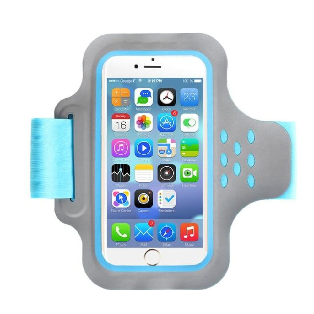 Running Bags Sport Armbands For iPhone - 89 Blue - Gym Arm