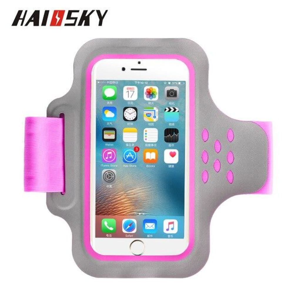 Running Bags Sport Armbands For iPhone - 89 Rose Red - Gym