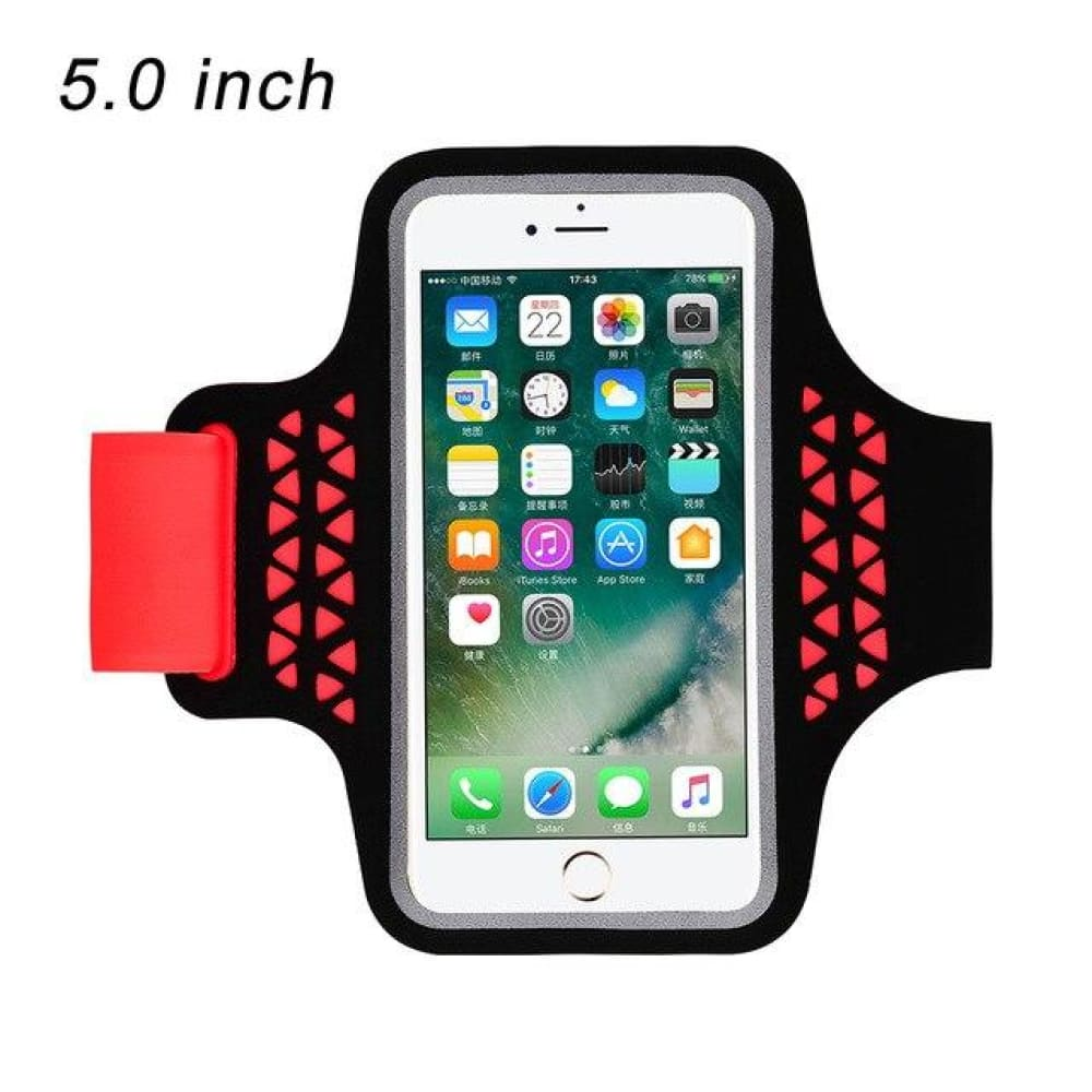 Running Bags Sport Armbands For iPhone - 92 Red - Gym Arm