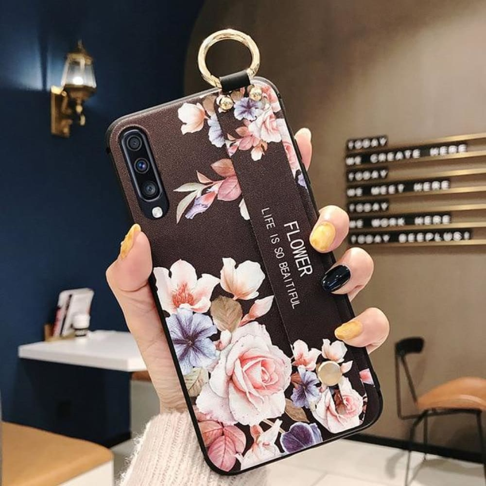 Samsung Flower Design Phone Cover - For A10 /