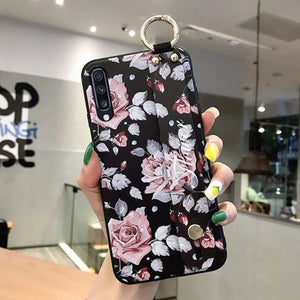 Samsung Flower Design Phone Cover - For A40 /