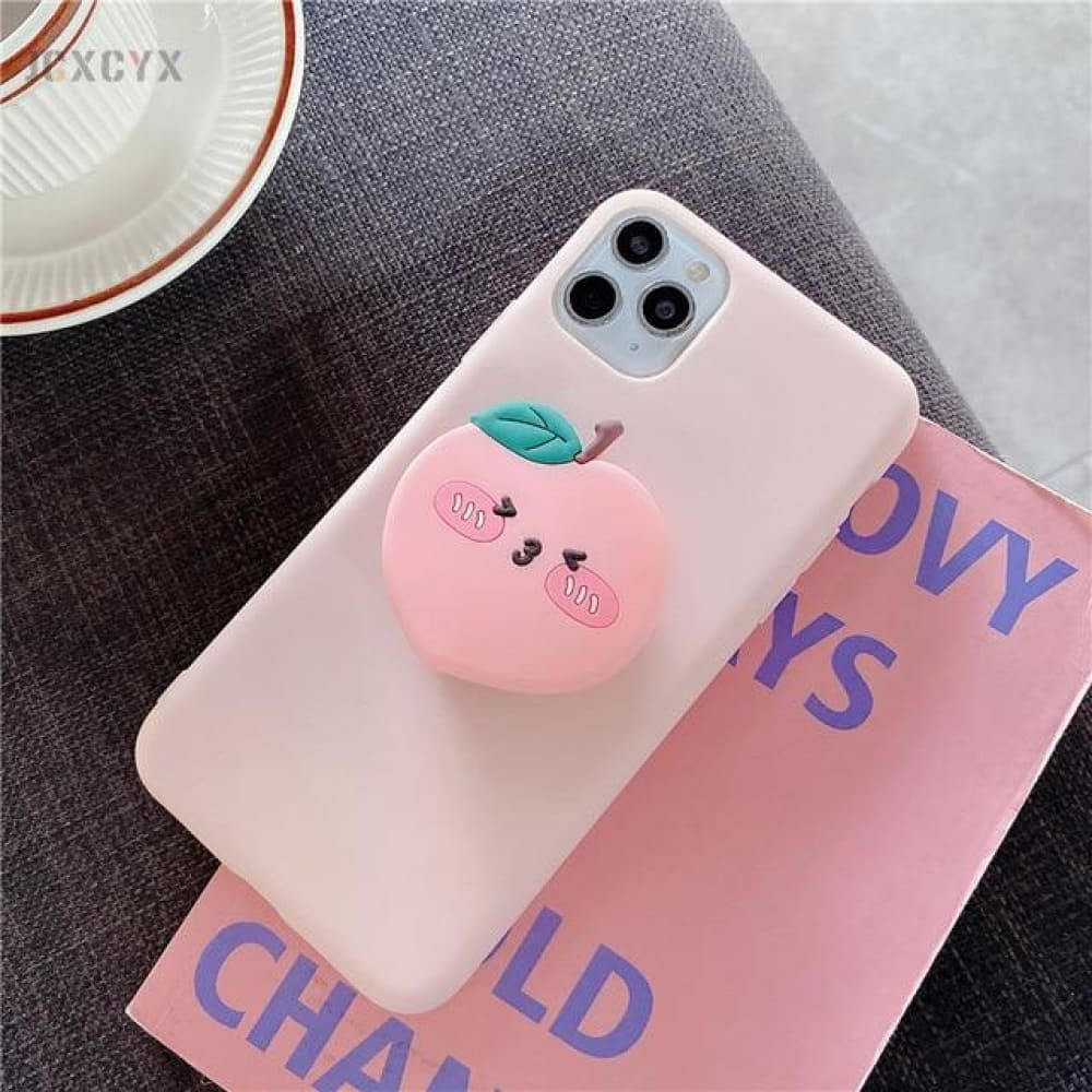 Silicone Luxury 3D Phone Case With Holder - for iphone 11 /