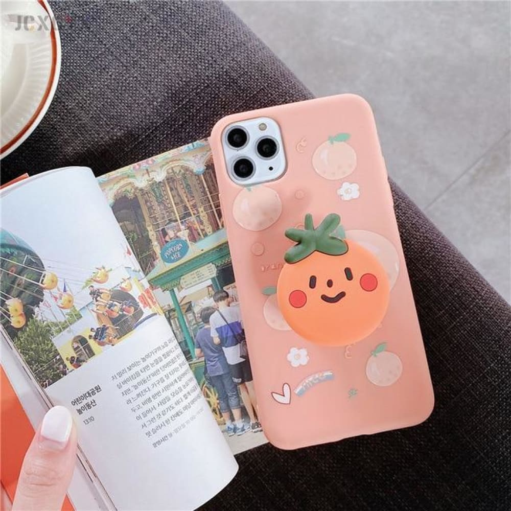 Silicone Luxury 3D Phone Case With Holder - for iphone