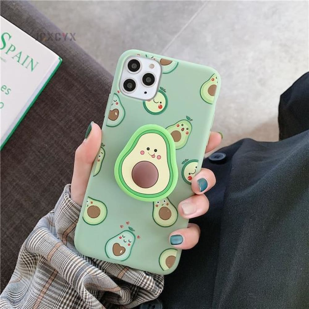 Silicone Luxury 3D Phone Case With Holder - for iphone X / E