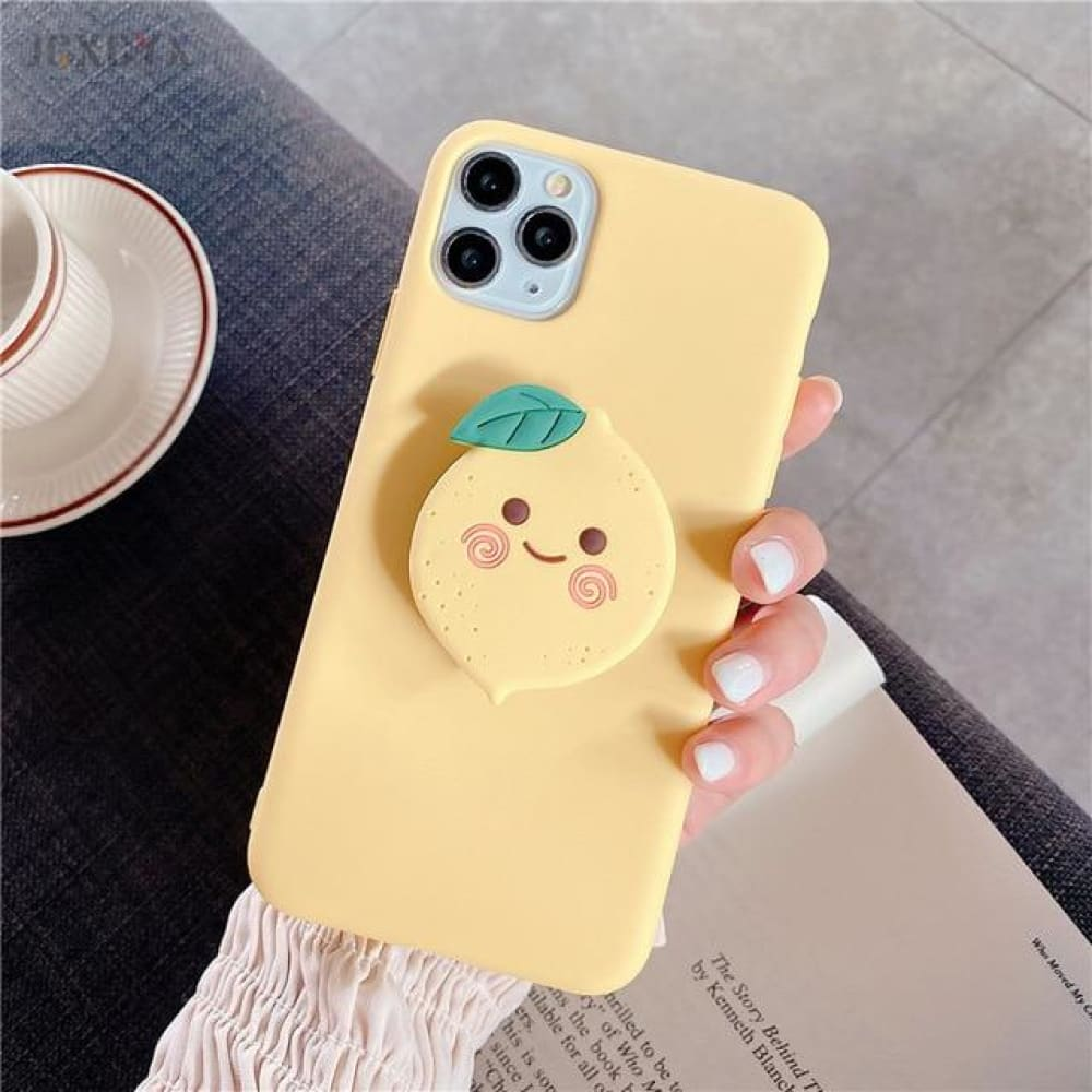 Silicone Luxury 3D Phone Case With Holder - for iphone XR /