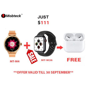 Super Combo offer with FREE Gift - All in White - Smartwatch