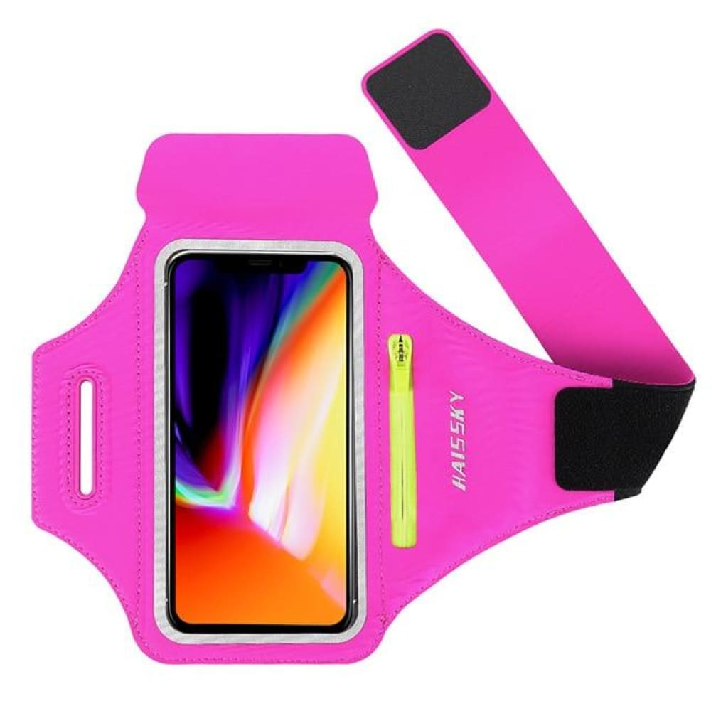 Universal Waterproof Phone Arm Band - Rose Red - Gym band