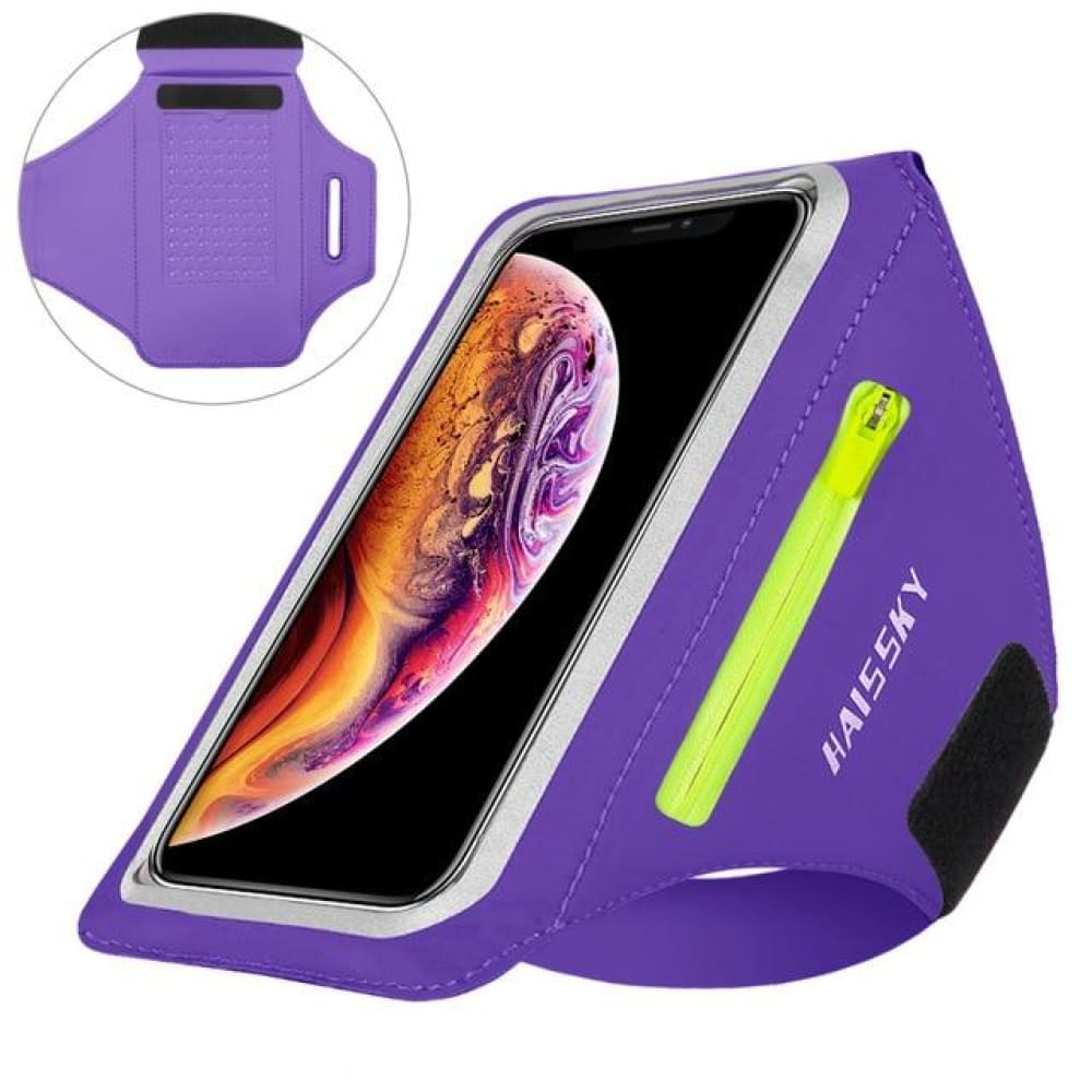 Universal Waterproof Phone Arm Band - Upgrade Purple - Gym