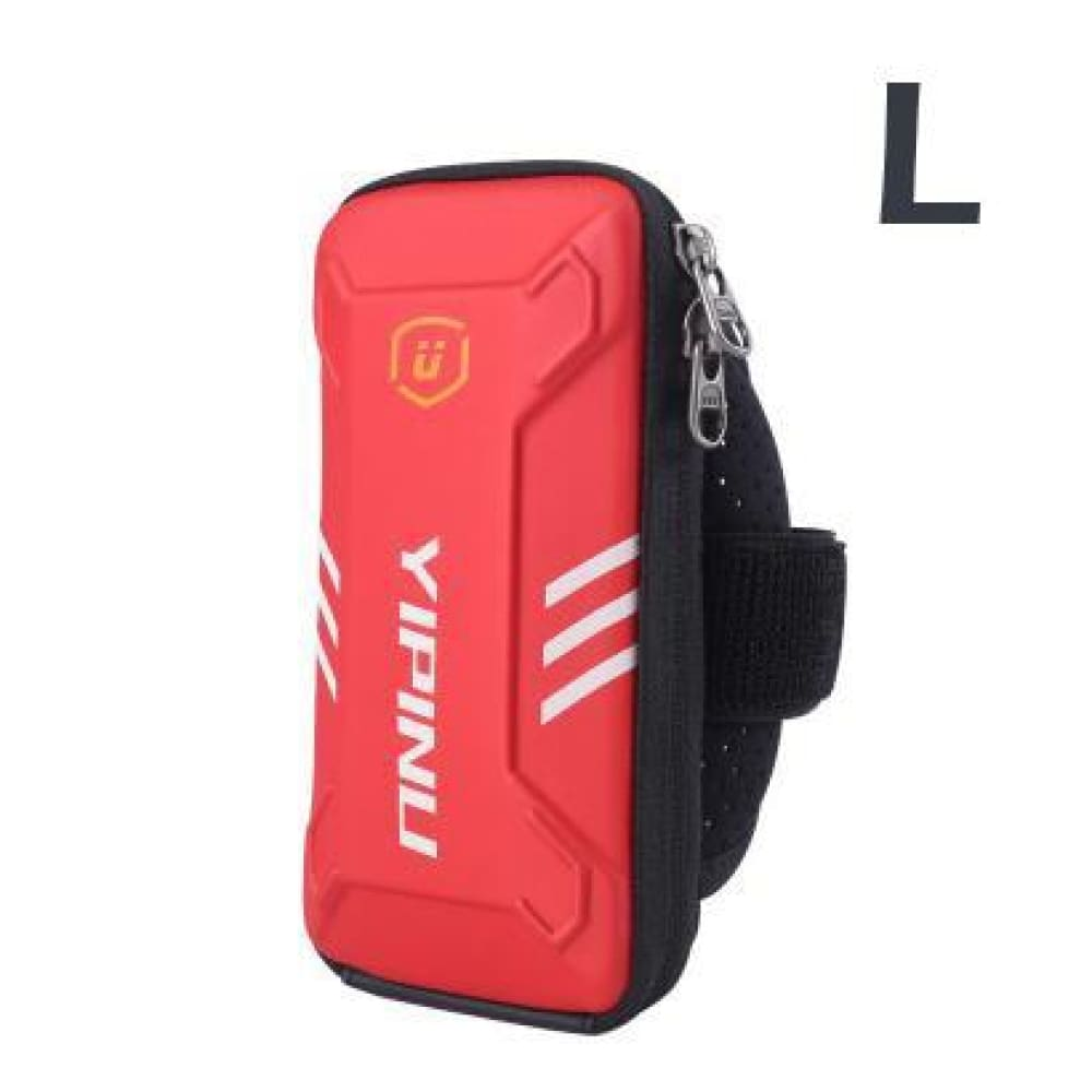 Waterproof Unisex Reflective Running Arm Bag - Red L - Gym