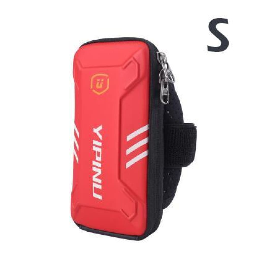 Waterproof Unisex Reflective Running Arm Bag - Red S - Gym