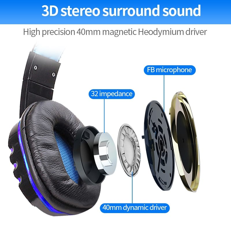 Original QF- Gamer Stereo Extra Bass Gaming Headphone With