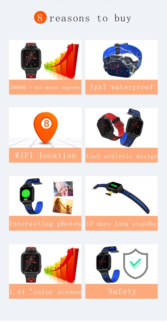 Mobteck-DS60 Kids Smart Watch video call SOS Tracking
