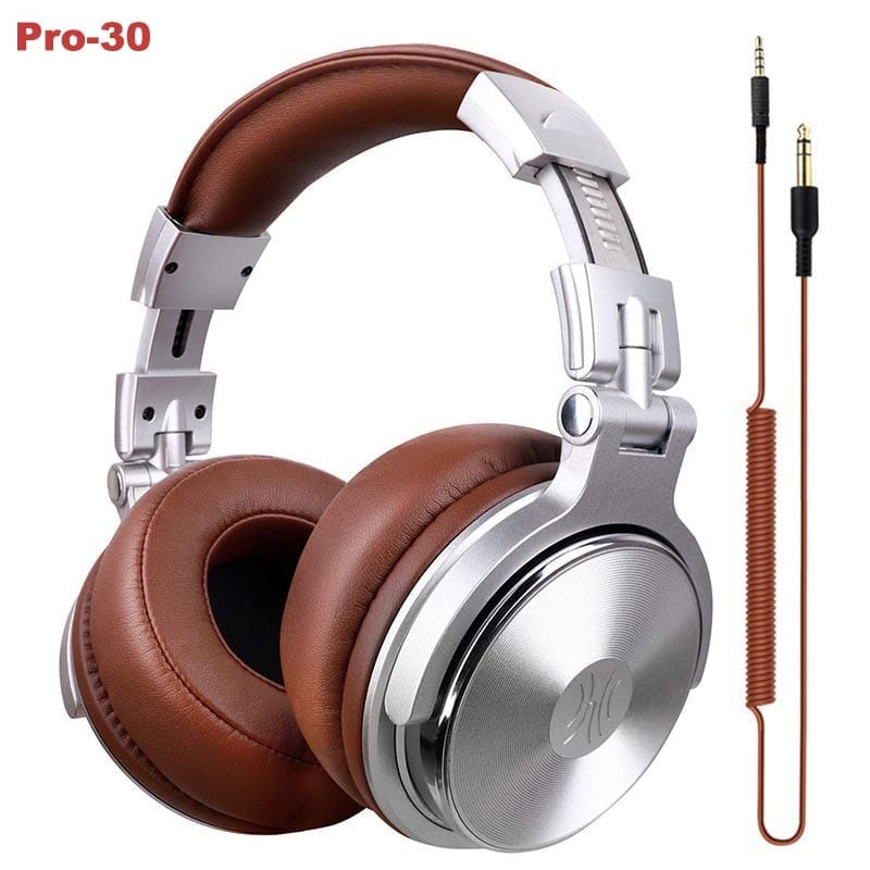 Original DJ Headphones With Microphone Over Ear Wired