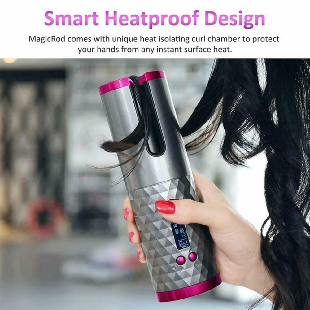 Wireless Hair Curler Iron USB Rechargeable