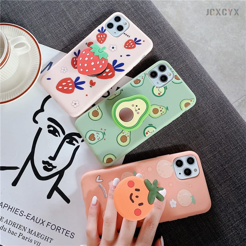 Silicone Luxury 3D Phone Case With Holder