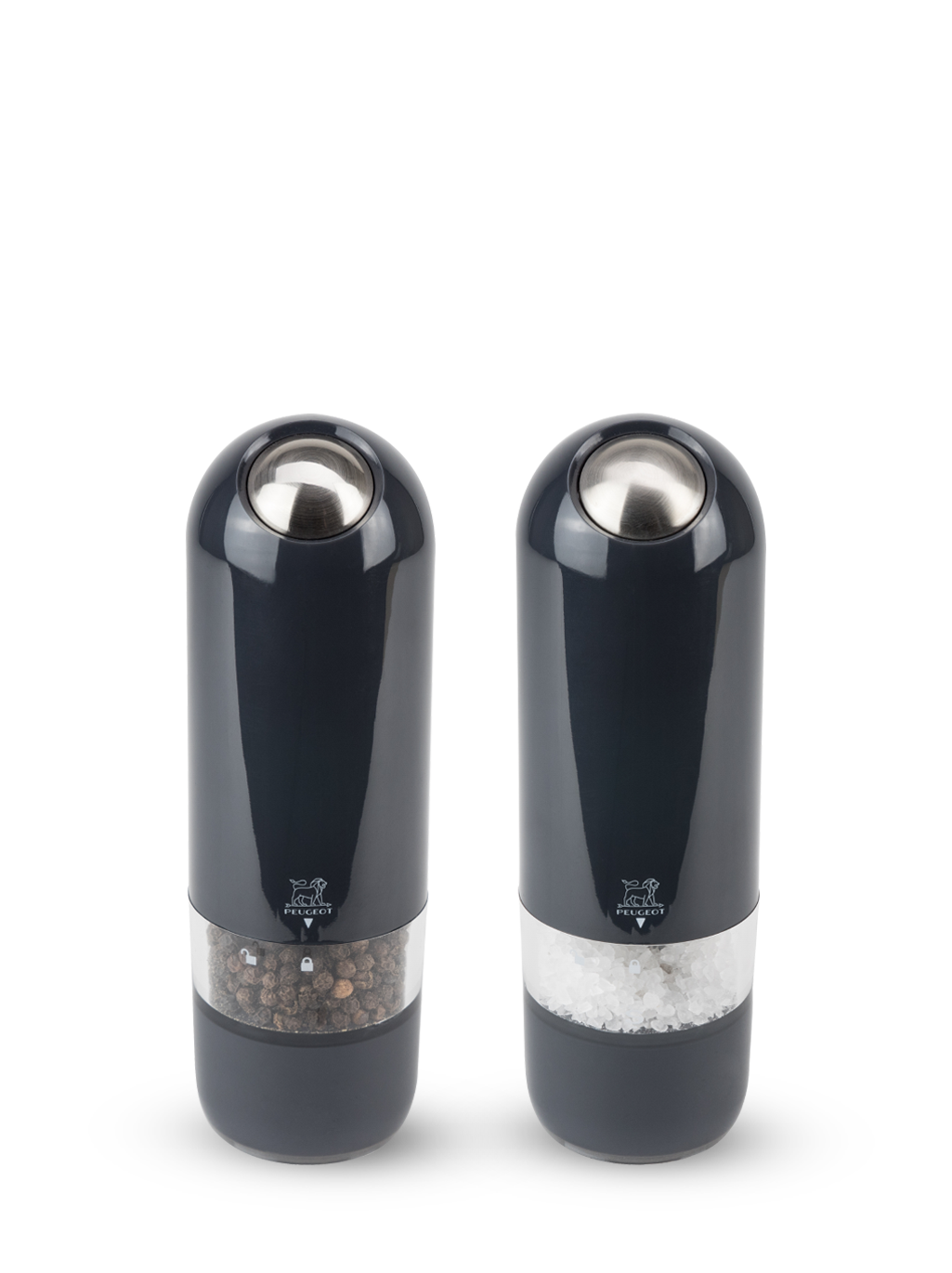 Peugeot Alaska Duo Salt Mill & Pepper Mill Set in Quartz (Black) 17cm