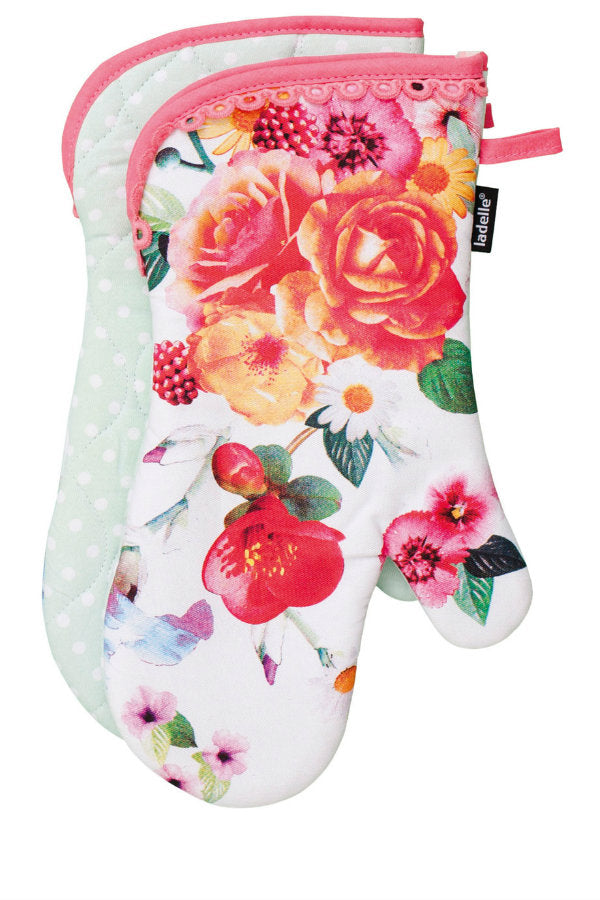 Ladelle Daphne Flower Oven Gloves Pack of 2