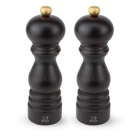 Peugeot Salt Mill and Pepper Mill Duo Set Paris U-Select Dark Beech 18cm