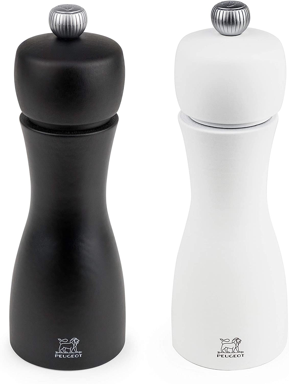 Peugeot Salt Mill & Pepper Mill Set Tahiti Duo Black and White 15cm- Limited Time Offer