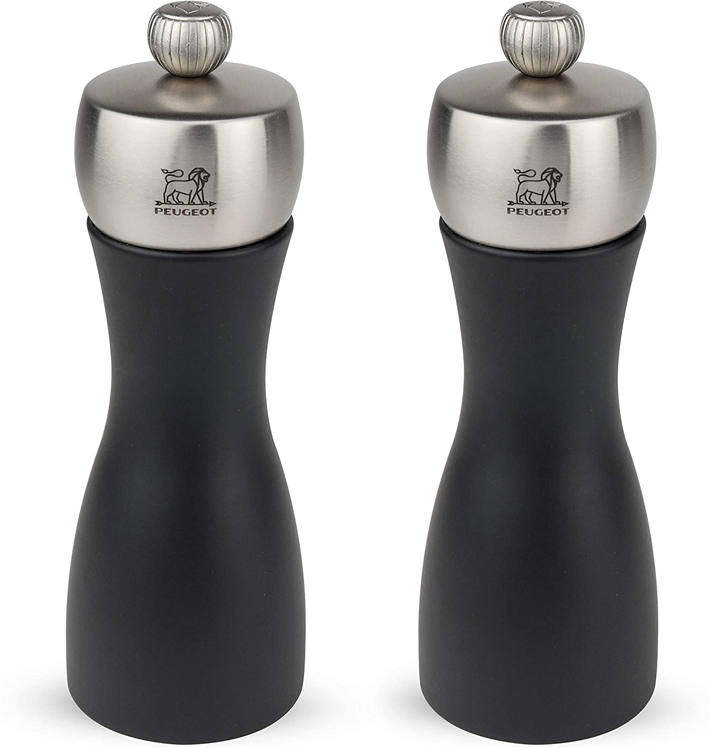 Peugeot Salt Mill & Pepper Mill Duo Set Fidji Black 15cm