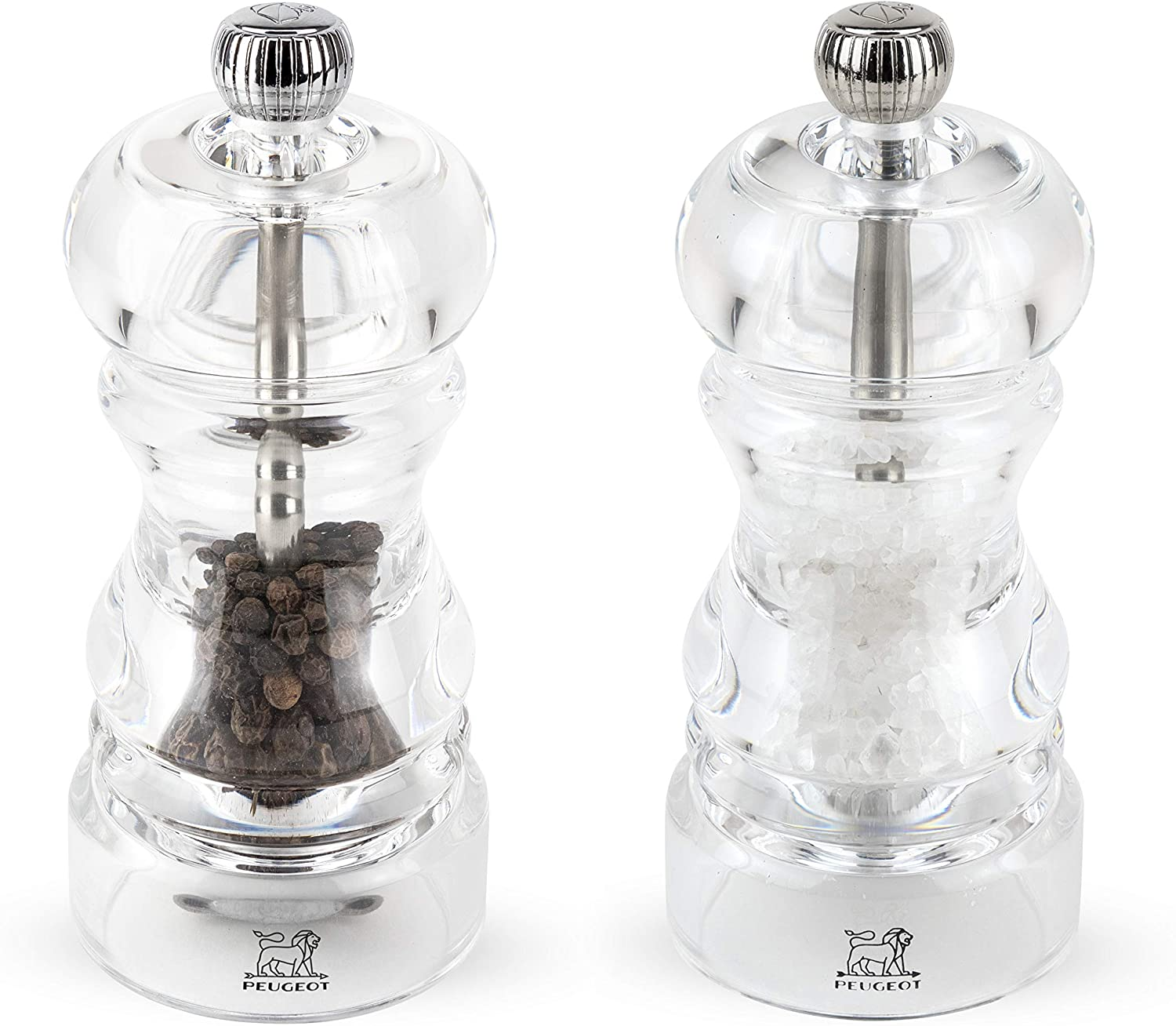 Peugeot Salt Mill & Pepper Mill Set Nancy Acrylic 12cm