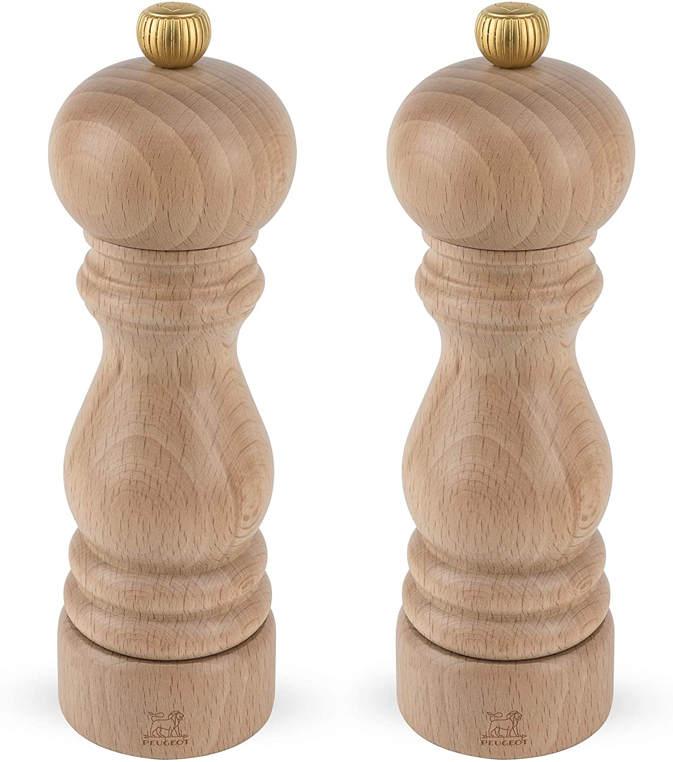 Peugeot Salt Mill & Pepper Mill Duo Set - Paris U-Select Natural Beech 18cm