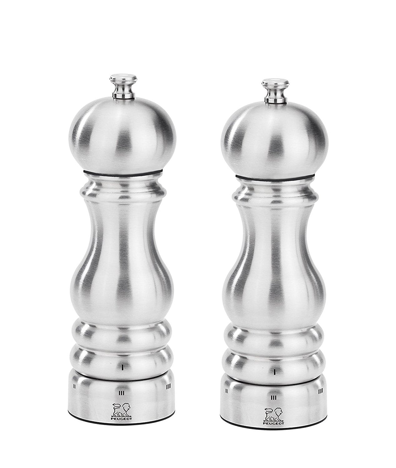 Peugeot Paris Chef Duo Salt and Pepper Mills Set Stainless Steel 18cm