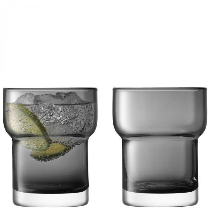 LSA Utility Tumbler 300ml in Slate Set of 2 Gift Boxed