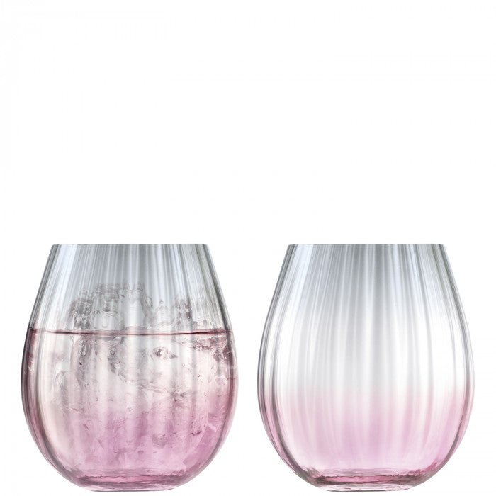 LSA Dusk Tumbler 425ml Pink and Grey set of 2 Gift Boxed