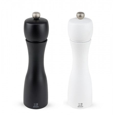Peugeot Salt Mill & Pepper Mill Set Tahiti Duo Black and White 20cm Gift Boxed