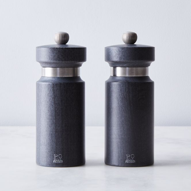 Peugeot Royan Salt and Pepper Duo Mill Set Grey 14cm