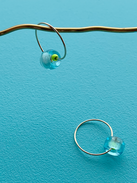 GUDRUN earrings ROUND GLASS