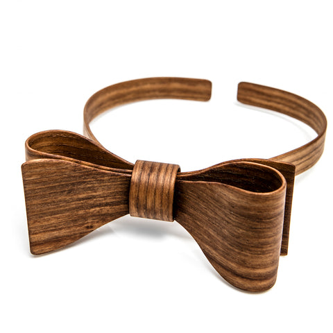 Wooden bow tie Tanned Ash Dark