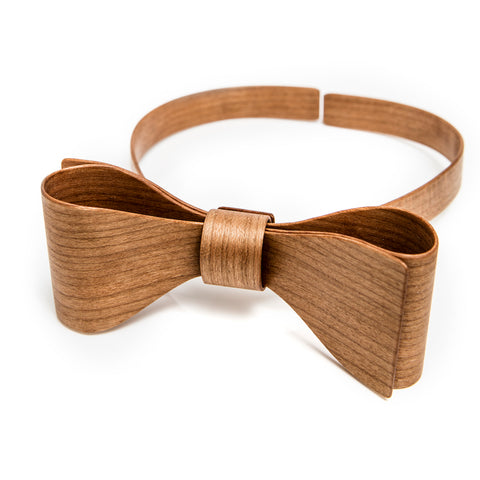 Wooden bow tie Tanned Ash