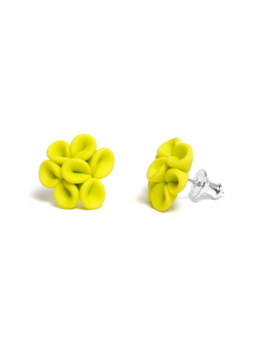 Leaves Earrings Neon Yellow
