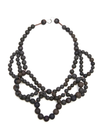 Pirouette Double Necklace  Coal