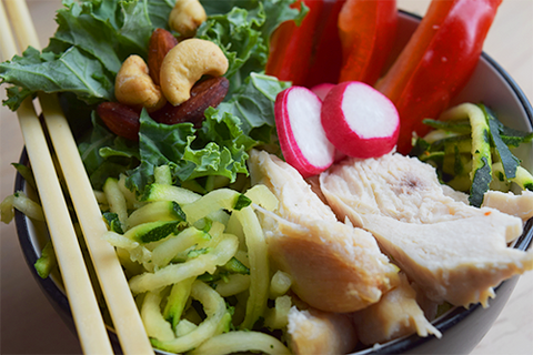 Asian Inspired Quick Superfood Chicken Salad