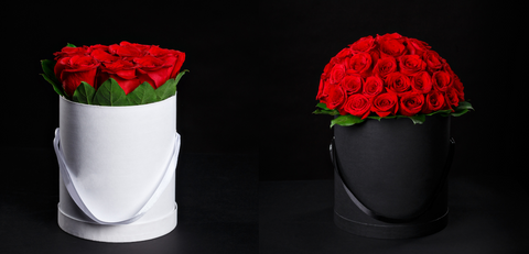 Valentine's Day Round Box Roses Arrangements