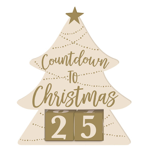 Decor Countdown To Christmas Wooden Base Stand - mabrook.me