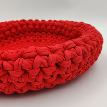 Load image into Gallery viewer, Crochet Baskets Red Crochet Basket - mabrook.me