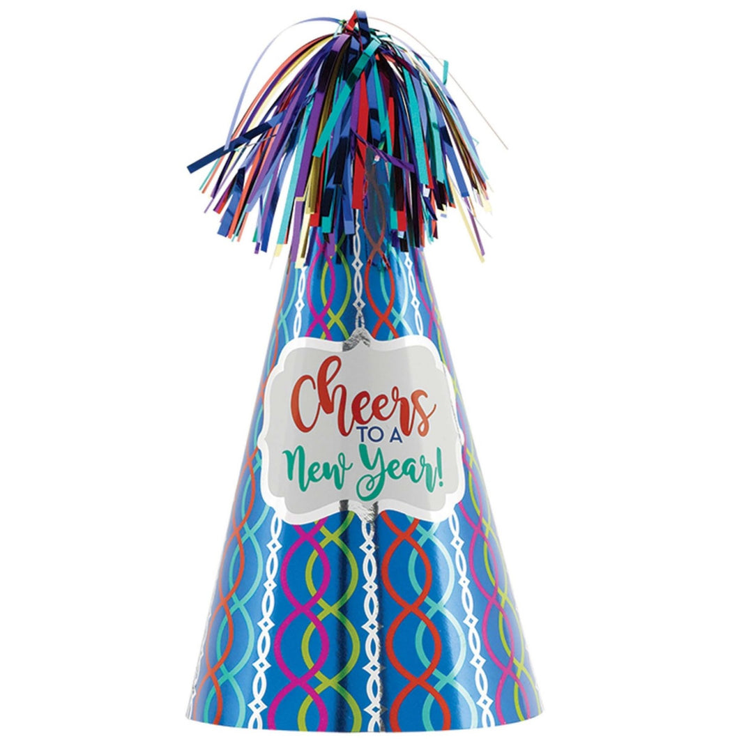 Accessories New Year Jewel Tone Cone Hat - mabrook.me