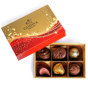Chocolates Christmas Rigid Collection - 6 Pcs - mabrook.me