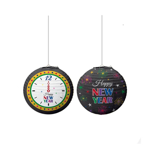 Decor Happy New Year Mega Value Clock Lantern - mabrook.me