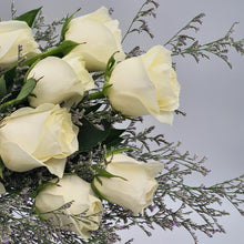 Load image into Gallery viewer, Bunch of White Roses - mabrook.me
